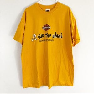 Harley Davidson Yellow Ride The Plank T-Shirt